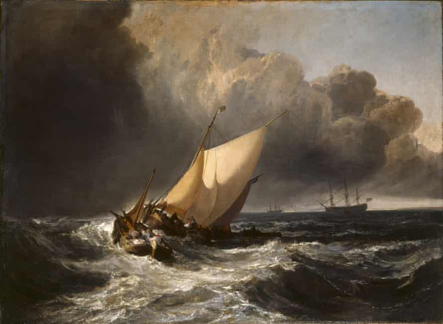 JMW Turner's Dutch Boats in a Gale,1801.