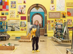 Artist Grayson Perry at the Royal Academy
