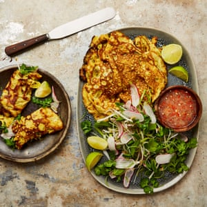 Yotam Ottolenghi's coconut and turmeric omelettes.