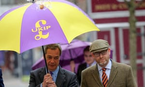 Farage and Nuttall in Stoke before the byelection.