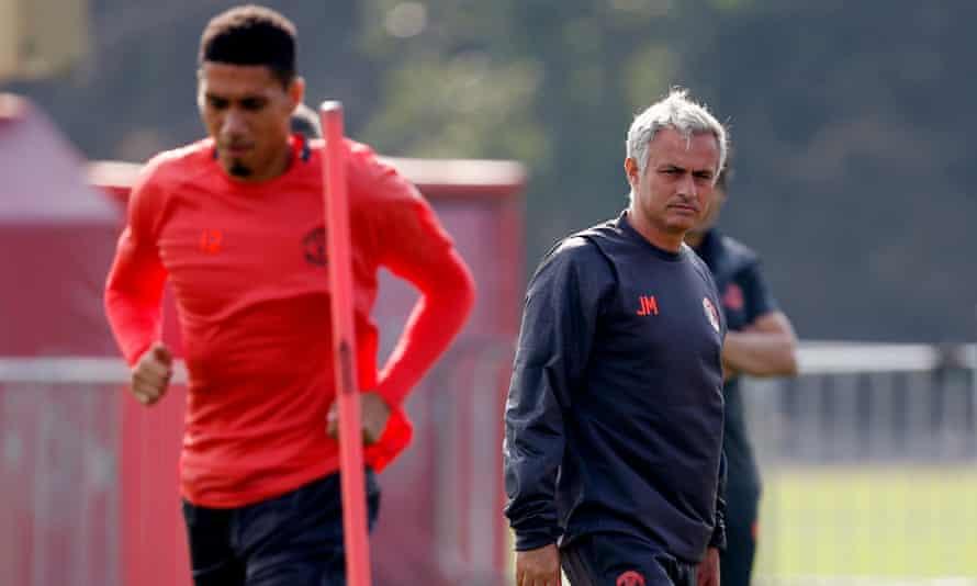 Chris Smalling and José Mourinho.