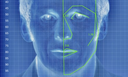 An illustrated depiction of facial analysis technology similar to that used in the experiment.