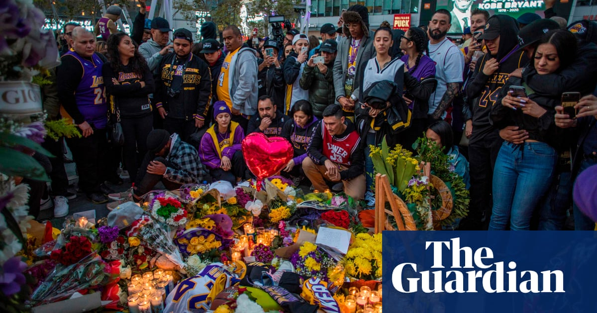 Part of LA has died: Fans pay tribute to Kobe Bryant outside Staples Center – video