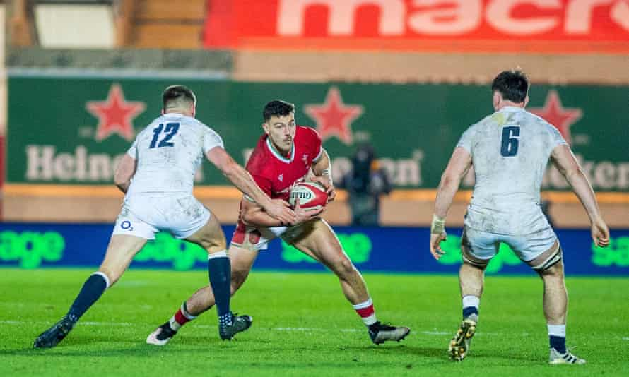 Wales's Johnny Williams looked the most motivated man on the field in the first half against England.