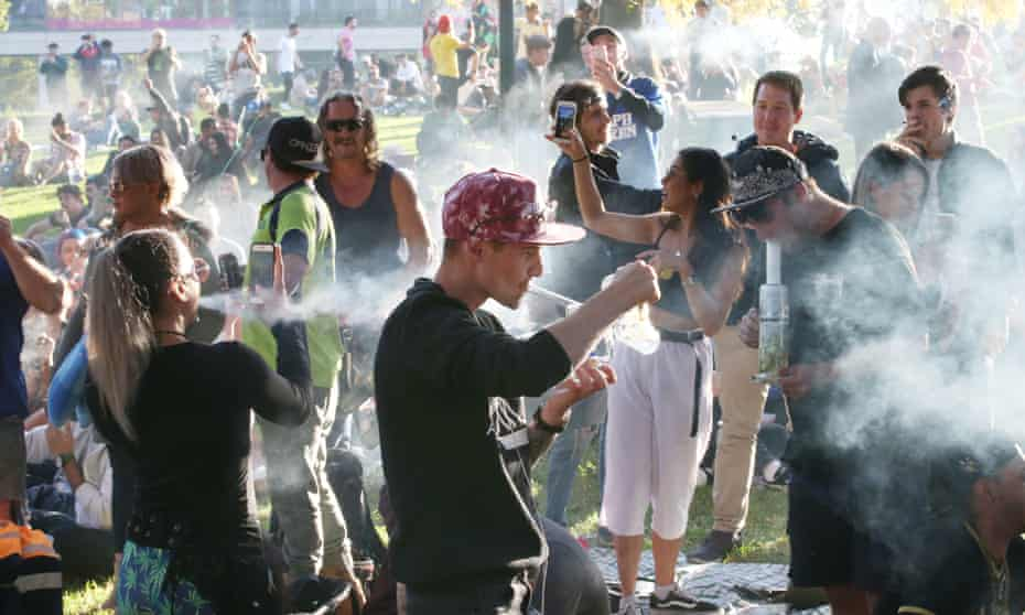 'Cannabis is not a counter-culture movement anymore.' the Melbourne Free Cannabis Community 420 rally held in Melbourne, 2018.