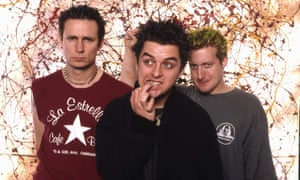 Pop-punk pioneers … Mike Dirnt, Billie Joe Armstrong and Tré Cool of Green Day.