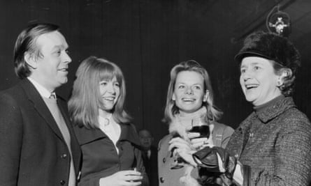 William Gaskill, as artistic director of the Royal Court theatre, with the actors, from right, Peggy Ashcroft, Jill Bennett and Jane Asher (1969).