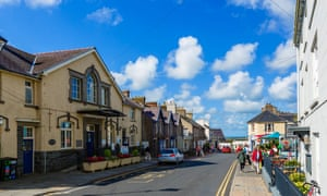 High Street in the cathedral city of St David's, Pembrokeshire