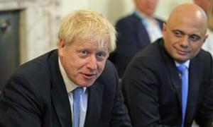 Sajid Javid and Boris Johnson