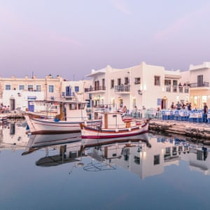 fishing harbour at Naoussa, Paros, Greece