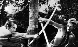 Akira Kurosawa's Rashomon (1950), inspired by two short stories by Ryūnosuke Akutagawa.