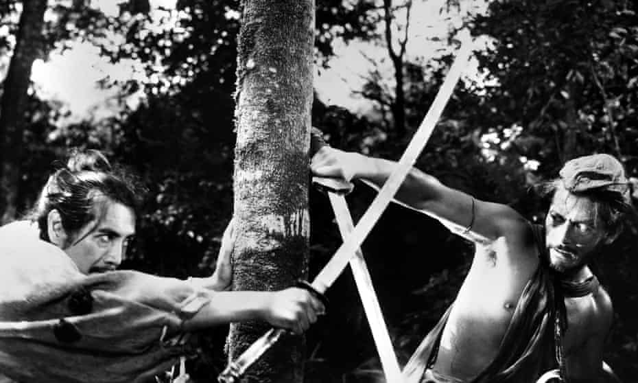 Masayuki Mori, left, and Toshiro Mifune in Rashomon.