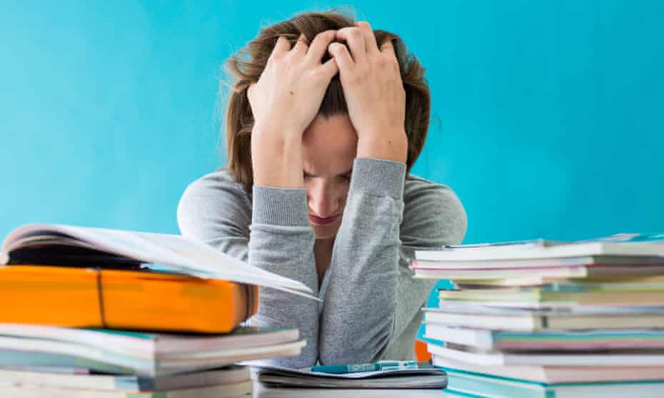 Huge workloads mean that, to keep up, teachers work an average of 60 hours a week during term time and through their holidays.