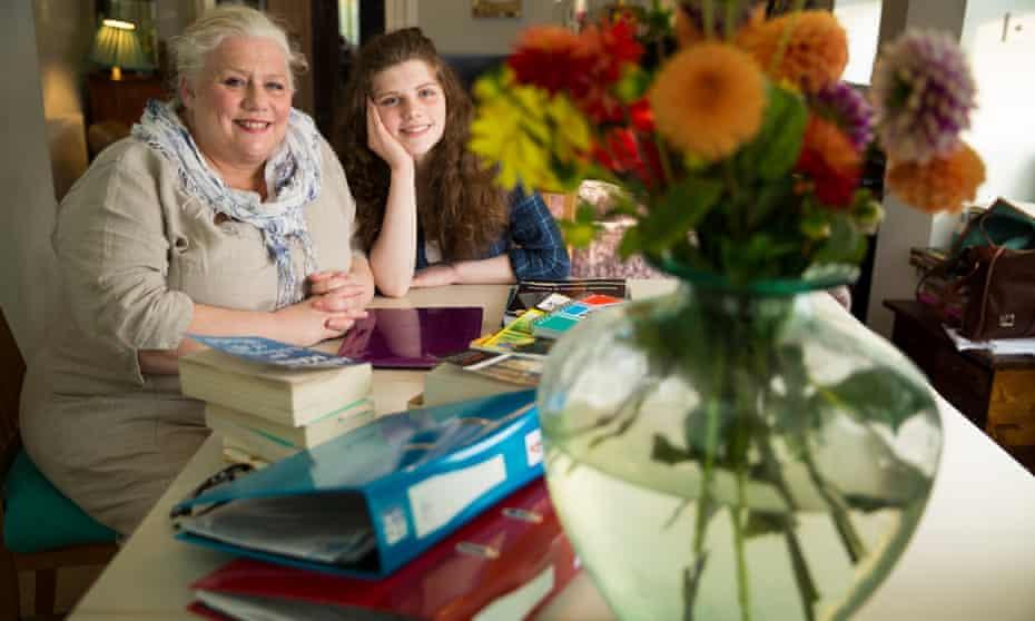 Barbara Metcalfe and her daughter Thea at home