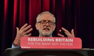 Corbyn speaking on Brexit in Hastings last week.