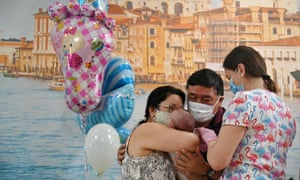 An Argentinian couple meet their son for the first time at Hotel Venice