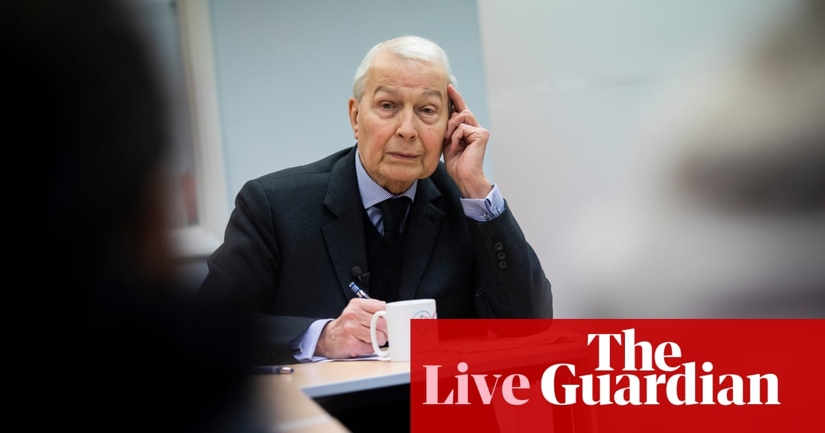 Former MP Frank Field says he is terminally ill and asks peers to relax law on assisted dying – UK politics updates