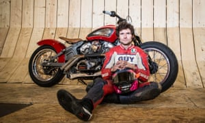 Guy Martin on site at the Wall of Death where he will attempt to break a world speed record live on Channel 4.