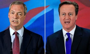 Composite of Nigel Farage and David Cameron