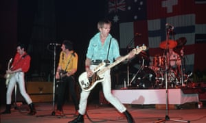 The Clash on stage, circa 1978.