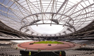 The Olympic Stadium is undergoing a major reconstruction so that it can also become the new home of West Ham United from next August.