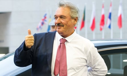 Luxembourg's Foreign Minister Jean Asselborn arrives at the EU talks on border controls.