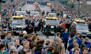 The funeral cortege for the Gibraltar three in Belfast, 16 March 1988.