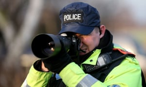 Police officer with camera