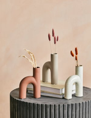 Arch Vases, £18 each, by Rose & Grey
