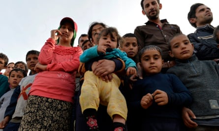 Syrian refugees at a camp in Lebanon, Oxfam says they now make up a fifth of the country's population.