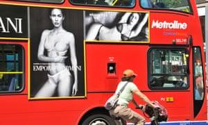 London bus advert