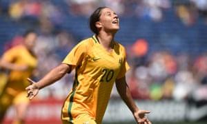 Sam Kerr of the Matildas