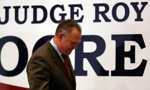 Republican Senate candidate Roy Moore. 'Alabama declared to America that yes, there is still a moral line to be drawn.'