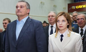 Sergei Aksyonov, governor of Crimea and Natalia Poklonskaya, prosecutor general