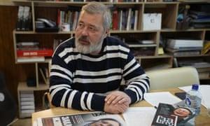Dmitry Muratov, editor-in-chief of Russia's main opposition newspaper Novaya Gazeta.