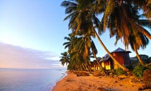 Idyllic sandy beach and clean water at Ile Sainte Marie, Madagascar, Indian Ocean, Africa