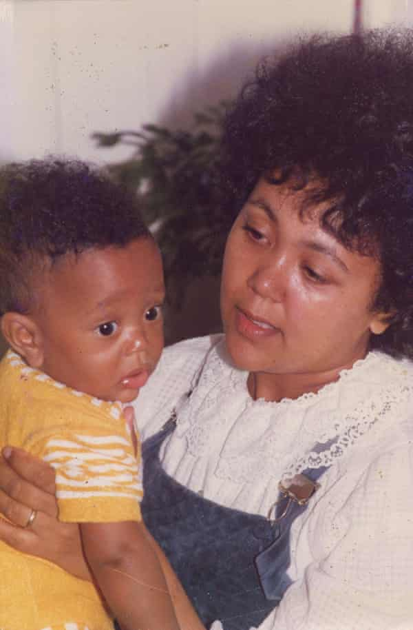 The young Kehinde Andrews with his mother