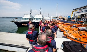 Future Leaders in Lifesavings course 2016 at the RNLI College in Poole.