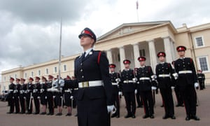 The last rehearsal of the sovereigns parade at Sandhurst.