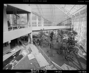 Planting begins to take place in the Conservatory (Mar 1980)