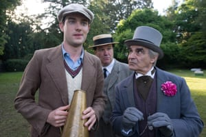 Jack Whitehall, Douglas Hodge and David Suchet in Decline and Fall.