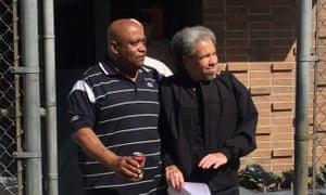 Albert Woodfox released, accompanied by his brother Michel Mable, out of the West Feliciana Parish Detention Center.