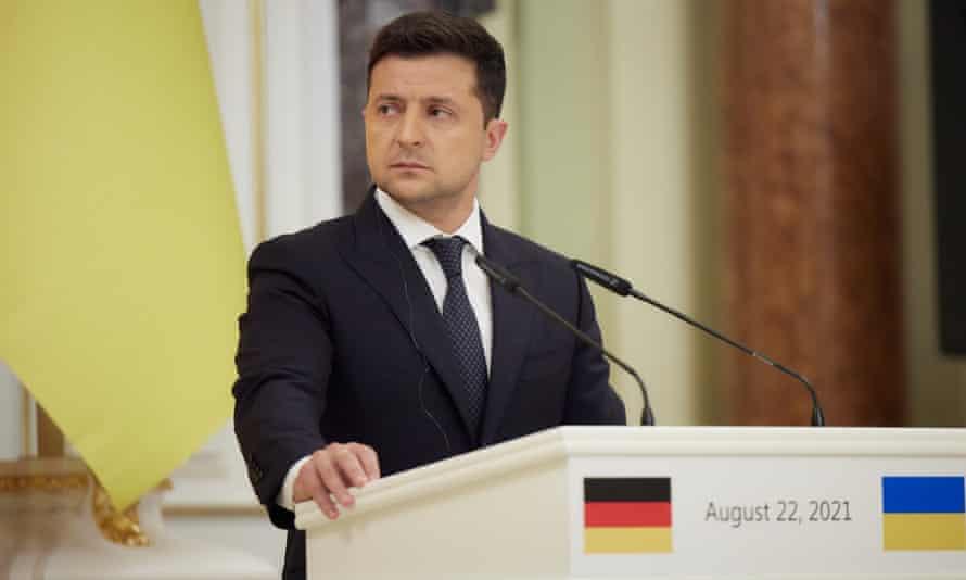 The Ukrainian president, Volodymyr Zelenskiy