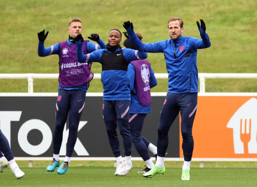 England players in training on Tuesday.
