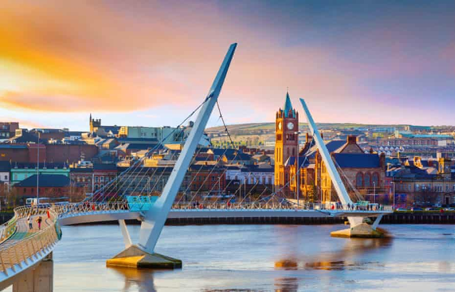 The Peace Bridge in Derry, Northern Ireland