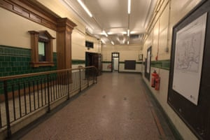 The booking office at Aldwych underground station