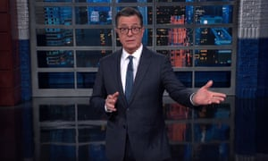 """Stephen Colbert: """"Here's the difference between 2003 and now: I weigh 30 more pounds. Here's another one: back then, George W. Bush respected us enough to put some effort into his lies."""""""