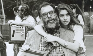 'I loved hanging around sets – that's how I learned to be a film-maker' … with her father Francis Ford Coppola in 1988.