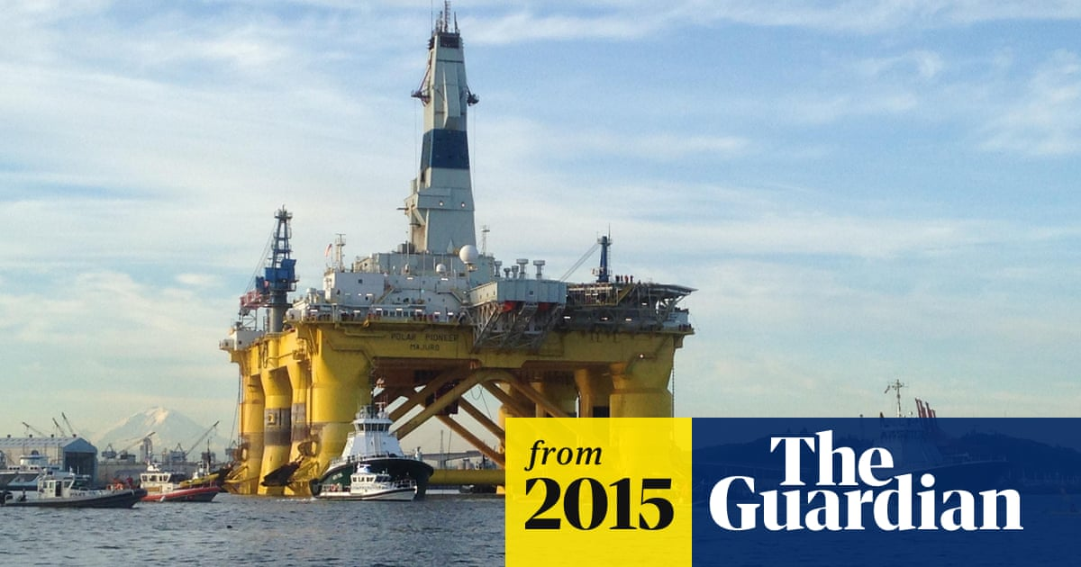 Shell S Arctic Oil Rig Departs Seattle As Kayaktivists Warn Of Disaster Business The Guardian