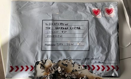Police image of an unexploded incendiary device